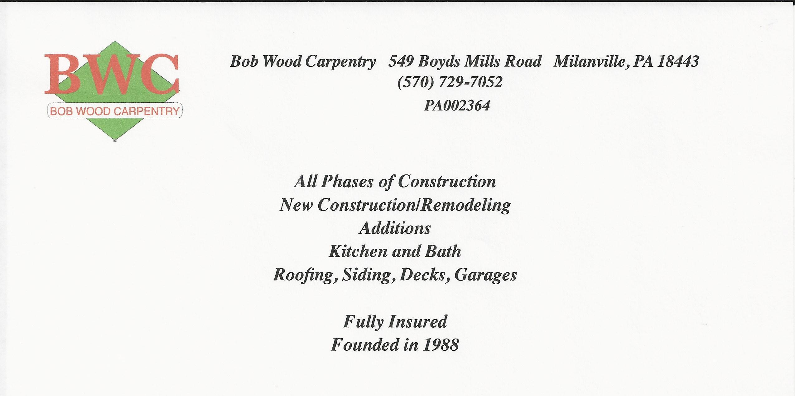 Bob Wood Carpentry