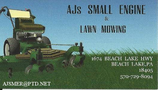 AJ'S Small Engine & Lawn Mowing